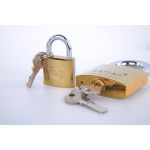 38mm Lemen Electroplated  Iron Padlock With Brass Cylinder