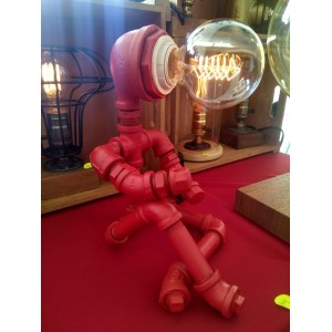 Thinking Man Table Lamp (Red)