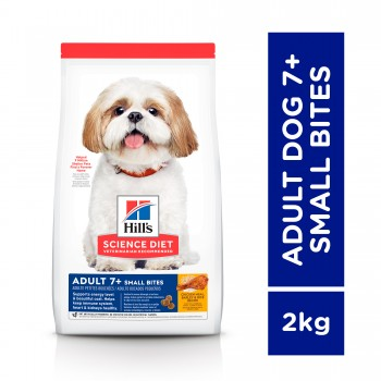 Hill's Science Diet Adult 7+ Small Bites Chicken Meal, Barley & Rice 2kg