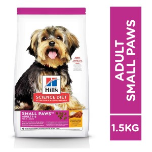 Hill's Science Diet Adult Small Paws Chicken Meal & Rice Recipe 1.5kg