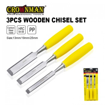 Crownman 3 Pieces Wooden Chisel Set【YJ0700653】