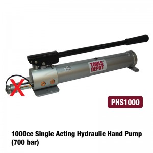 1000cc Single Acting Hydraulic Hand Pump (700bar)
