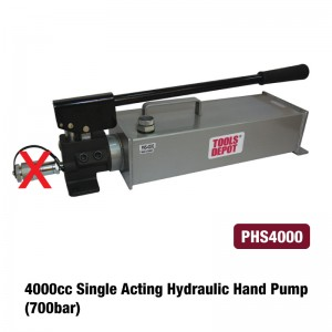 4000cc Single Acting Hydraulic Hand Pump (700bar)