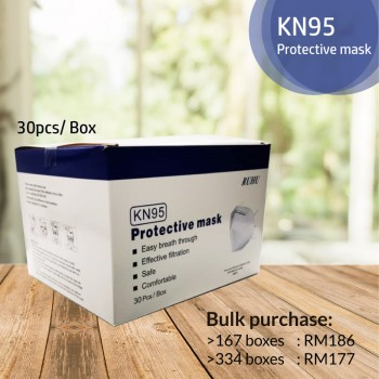 Ruhu KN95 Face Mask (30pcs/box)