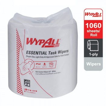 Wypall® Essential Task Roll Control 29999 - white, 1 ply, 1 roll x 300m, (1 roll, 1000sheets)