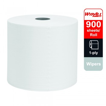 WypAll® X60 Wipers, Jumbo Roll, 93495 - White, 1 ply, 1 Roll x 900 Sheets (900 Sheets)