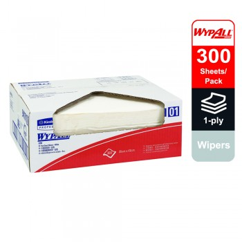 WypAll® X70 Wipers, flat sheet, 94171 - White, 1 ply, 1 pack x 300 sheets (300 sheets)