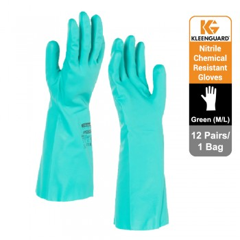 KleenGuard™ G80 Chemical Resistant Hand Specific Gloves - Green,1x12 pairs (24 gloves) - 94446 (M)