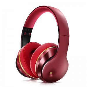 Lule Wireless Bluetooth Wear Noise-Cancelling Headphones -Red (Delivery in 2 weeks, MOQ10PCS)