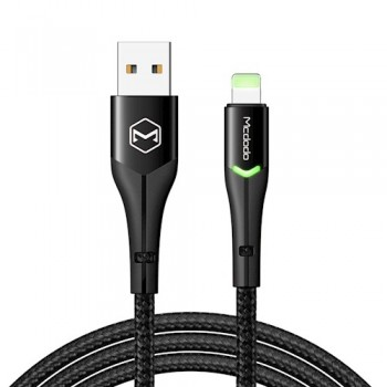 Mcdodo CA7840 Lightning Data Cable with Switching LED 1.2 - Black