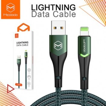 Mcdodo CA7841 Lightning Data Cable with Switching LED 1.2M - Green