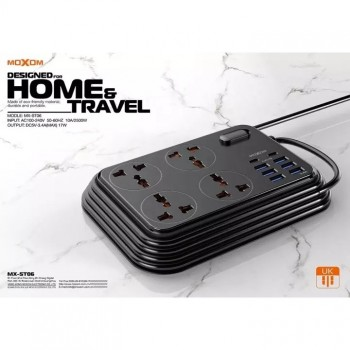 Moxom MX-ST06 Auto ID 2 meter Cord Designed for Home & Travel ST06 MXST06 2m