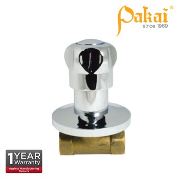 Pakai Crown Knob Handle Brass Quarter Turn Concealed Stop Valve PK-CRW-SC