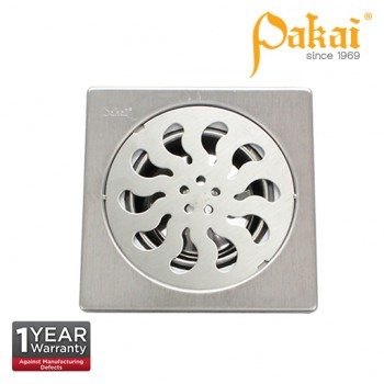 "Pakai  6'' X 6""  Stainless Steal Floor Grating With Insect Resistant Trap PK-FA117"