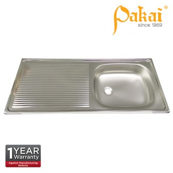 Pakai SUS201 Single Bowl Single Drainer(SBSD) Kitchen Sink PK-KSL1066-4