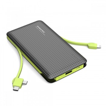Pineng PN956 10000mAh Power Bank With 2 Built-In Cables (B/G)