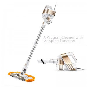 Puppyoo WP522GOLD Corded Handheld Stick Vacuum Cleaner with Mopping Function (Delivery in 2 weeks)