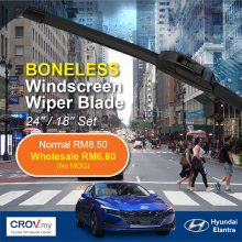 "Boneless Windscreen Wiper Blade Set (24""/18"") for Hyundai Elantra"