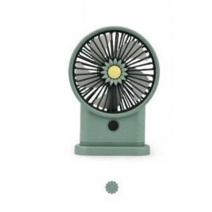 Yase YS2213-G Portable Rechargeable Mini Desk Lamp Fan - Green