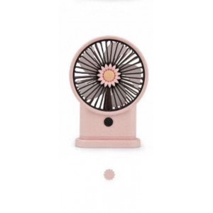 Yase YS2213-P Portable Rechargeable Mini Desk Lamp Fan - Pink