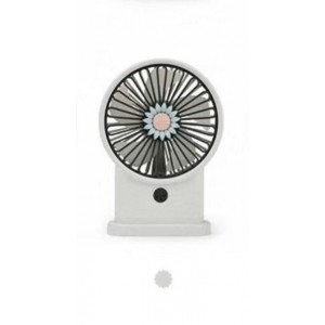 Yase YS2213-W Portable Rechargeable Mini Desk Lamp Fan - White