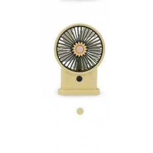 Yase YS2213-Y Portable Rechargeable Mini Desk Lamp Fan - Yellow