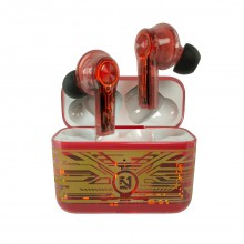 Lule Transparent  Red Touch Control TWS Earbuds