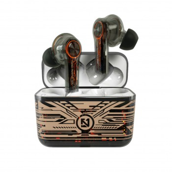 Lule  Transparent Black Touch Control TWS Earbuds