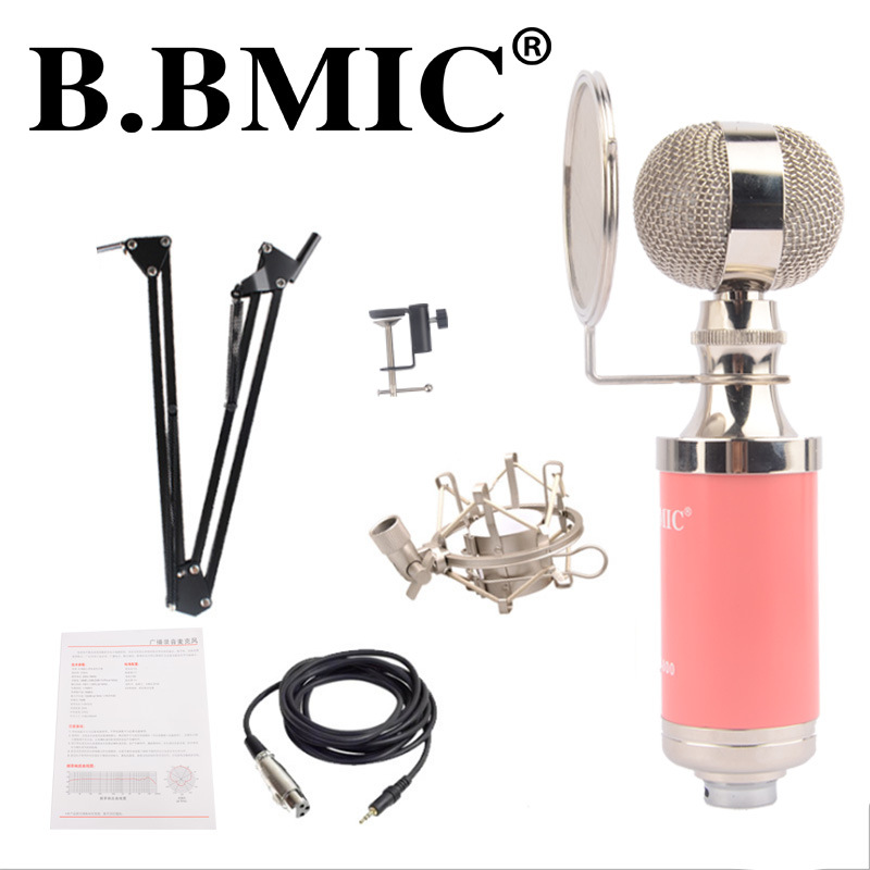 B. BMIC Bottle Condenser Microphone - Pink (Set)