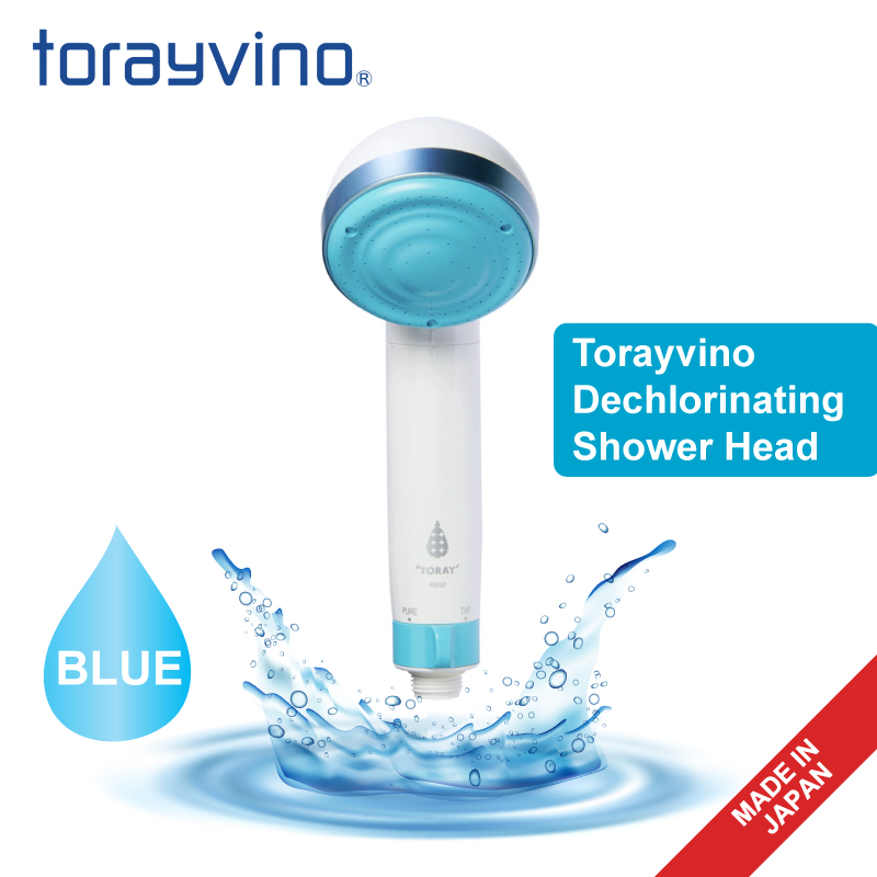 Torayvino Dechlorinating Shower Head (Blue)