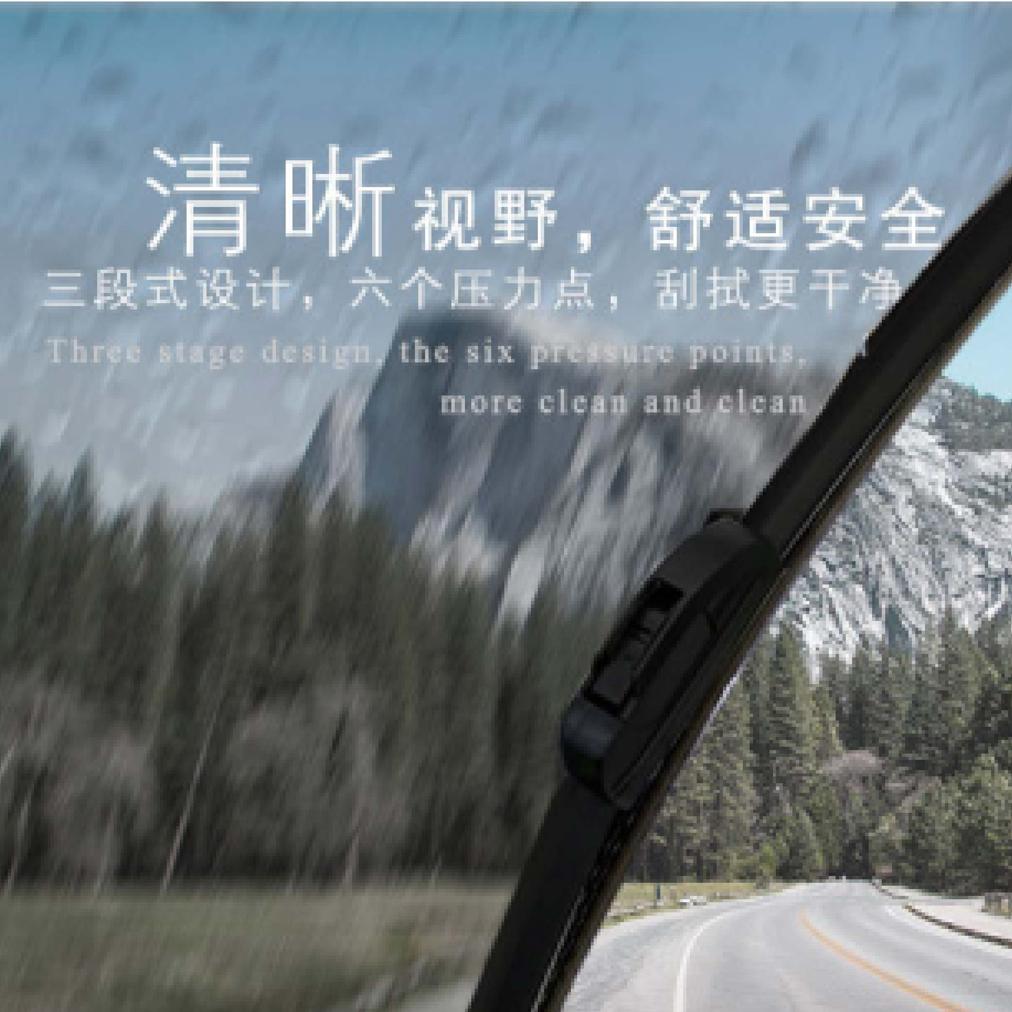 """3 Section Windscreen Wiper 26"""" Compatible with U-hook Fit 99% Car"""